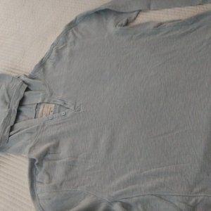Calvin Klein Sweaters - CALVIN KLEIN LIGHT BLUE COTTON HOODIE SIZE XL